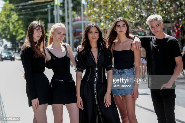 Catherine Debicki Mairead Mcgovern Jessica Gomes Sarah Davies and Geron Nord at the model casting for the David Jones Autumn Winter 18 Collections...