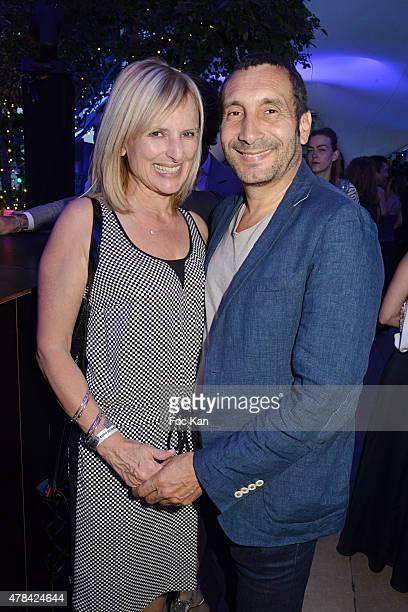 Catherine Delmas and Zinedine Soualem attend the 'Hublot Blue' cocktail party At Monsieur Bleu Palais De Tokyo on June 24 2015 in Paris France