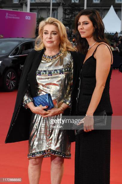 Catherine Deneuve and Anna Mouglalis attend the opening ceremony of the 45th Deauville American Film Festival on September 6, 2019 in Deauville,...