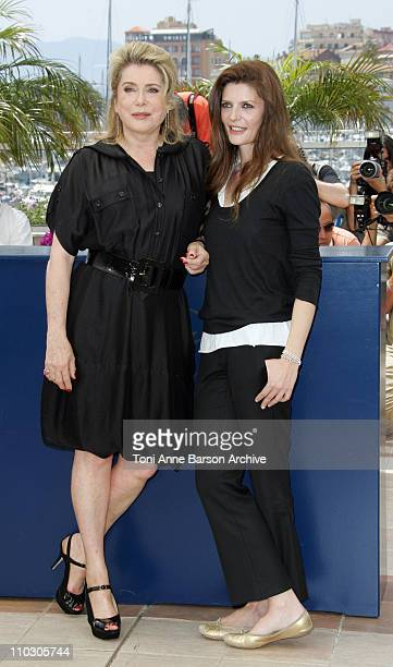 Catherine Deneuve and Chiara Mastroianni during 2007 Cannes Film Festival Persepolis Photocall at Palais des Festival in Cannes France