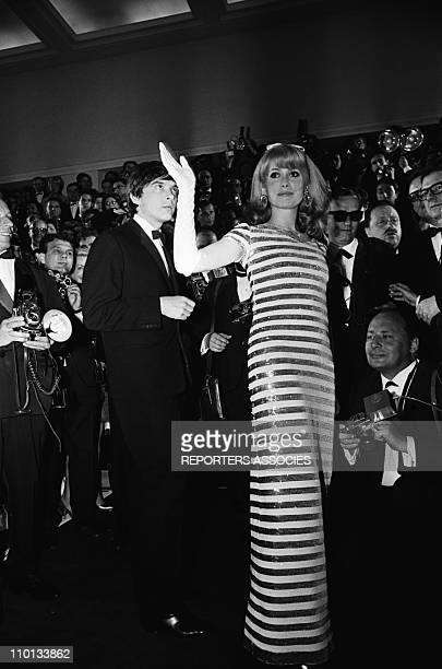 Catherine Deneuve and David Bailey at Cannes Film Festival on May 5th1966