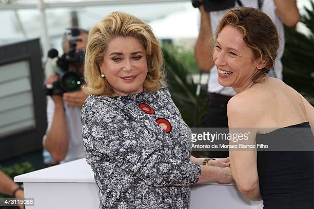 Catherine Deneuve and Emmanuelle attend the La Tete Haute photocall during the 68th annual Cannes Film Festival on May 13 2015 in Cannes France