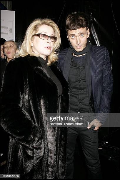 Catherine Deneuve and Hedi Slimane at Front Row At Dior Catwalk Show Menswear Pret A Porter Autumn Winter 2006/2007 Collection