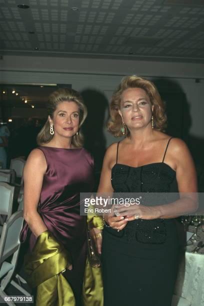 Catherine Deneuve and Ira de Furstenberg during the charity dinner