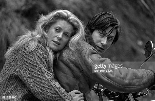 Catherine Deneuve and Jacques Dutronc on the set of Lelouch's 1979 film A Nous Deux