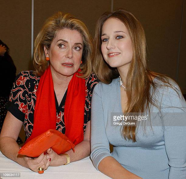 Catherine Deneuve and Leelee Sobieski during WE Women's Entertainment 'Dangerous Liaisons' Panel Session at Renaissance Hollywood Hotel in Hollywood...