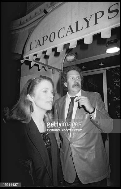 Catherine Deneuve and Mort Shuman attend a party at the Apocalypse night club