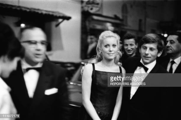 Catherine Deneuve and Roman Polanski Cannes Film Festival In Cannes France On May 24 1965