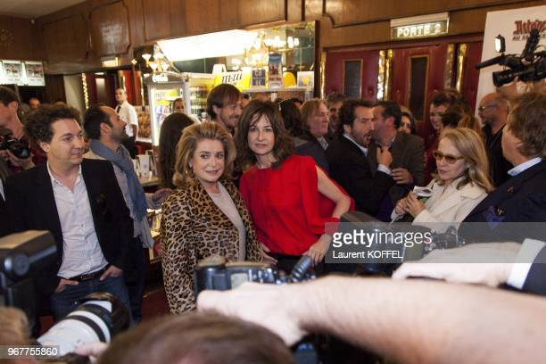 Catherine Deneuve and Valerie Lemercier attend at 'Asterix et Obelix au service de sa majeste' film premiere at 'Le Grand Rex' on September 30 2012...