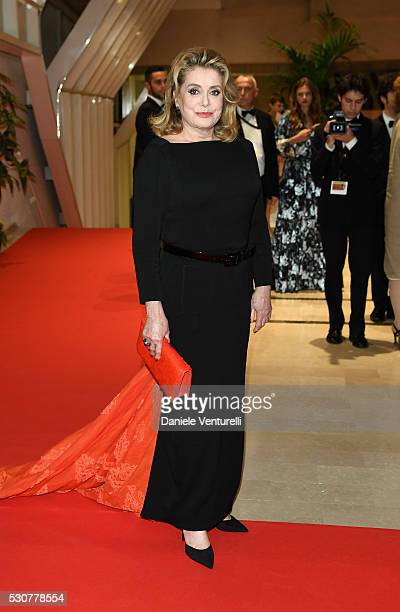 Catherine Deneuve arrives at the Opening Gala Dinner during The 69th Annual Cannes Film Festival on May 11 2016 in Cannes France