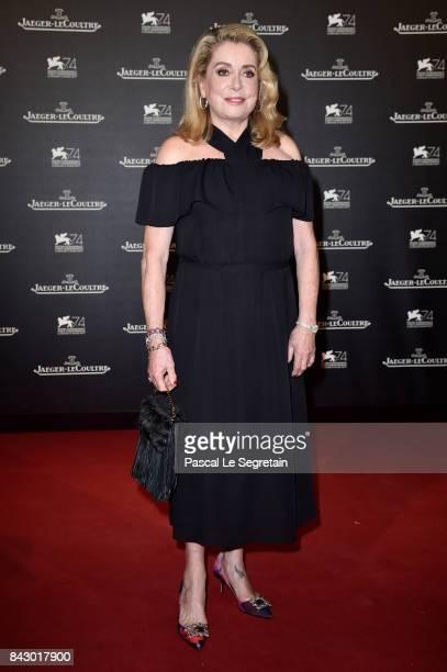 Catherine Deneuve arrives for the JaegerLeCoultre Gala Dinner during the 74th Venice International Film Festival at Arsenale on September 5 2017 in...