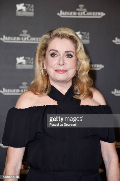 Catherine Deneuve arrives for the JaegerLeCoultre Gala Dinner during the 74th Venice International Film Festival at Arsenale on September 5 2017 in...