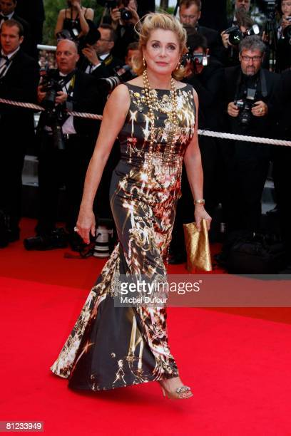 Catherine Deneuve arrives for the Palme d'Or Closing Ceremony at the Palais des Festivals during the 61st International Cannes Film Festival on May...