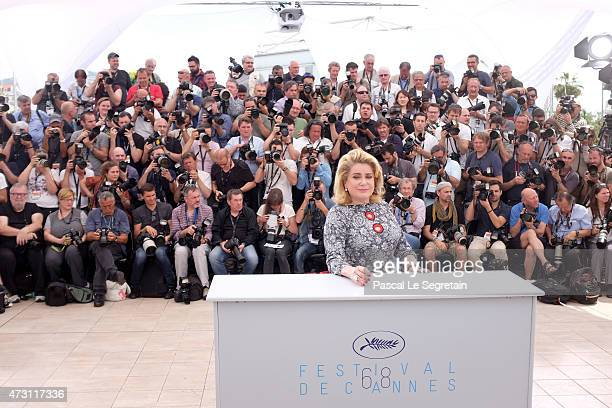 Catherine Deneuve attends a photocall for the opening film 'La Tete Haute' during the 68th annual Cannes Film Festival on May 13 2015 in Cannes France