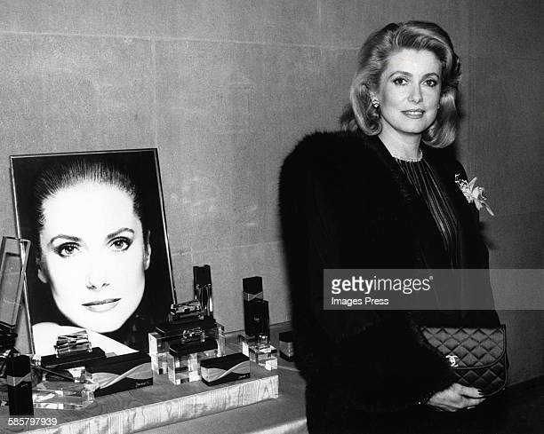 Catherine Deneuve attends her fragrance launch circa 1986 in New York City