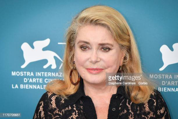 Catherine Deneuve attends La Vérité photocall during the 76th Venice Film Festival at Sala Grande on August 28 2019 in Venice Italy