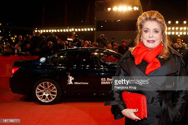 Catherine Deneuve attends 'On my Way' Premiere BMW at the 63rd Berlinale International Film Festival at Berlinale Palast on February 15 2013 in...