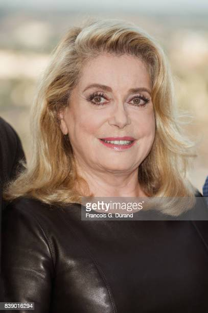 Catherine Deneuve attends the 10th Angouleme FrenchSpeaking Film Festival on August 25 2017 in Angouleme France