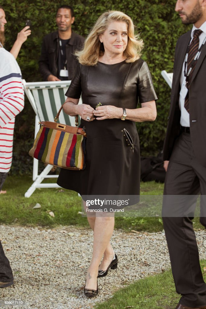 Catherine Deneuve attends the 10th Angouleme French-Speaking Film Festival on August 25, 2017 in Angouleme, France.