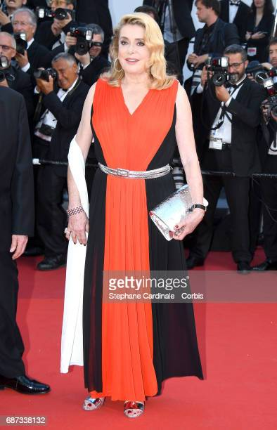 f392f1bbbe5 Catherine Deneuve attends the 70th Anniversary of the 70th annual Cannes  Film Festival at Palais des