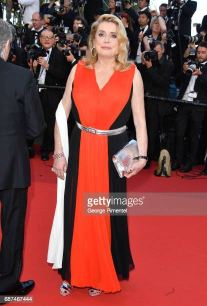Catherine Deneuve attends the 70th Anniversary screening during the 70th annual Cannes Film Festival at Palais des Festivals on May 23 2017 in Cannes...
