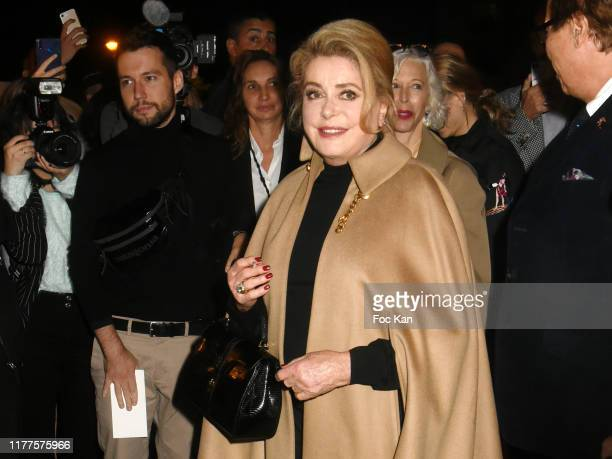 Catherine Deneuve attends the Celine Womenswear Spring/Summer 2020 show as part of Paris Fashion Week on September 27 2019 in Paris France