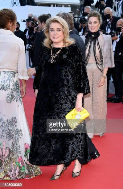 """Catherine Deneuve attends the """"De Son Vivant """" screening during the 74th annual Cannes Film Festival on July 10, 2021 in Cannes, France."""