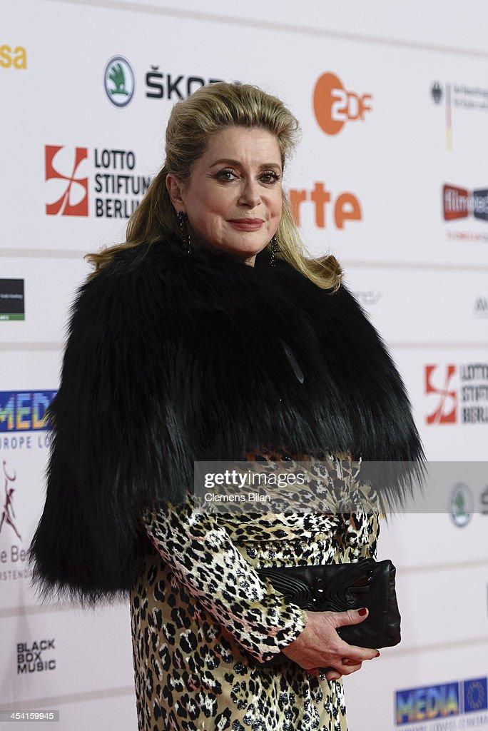 Catherine Deneuve attends the European Film Awards 2013 on December 7, 2013 in Berlin, Germany.