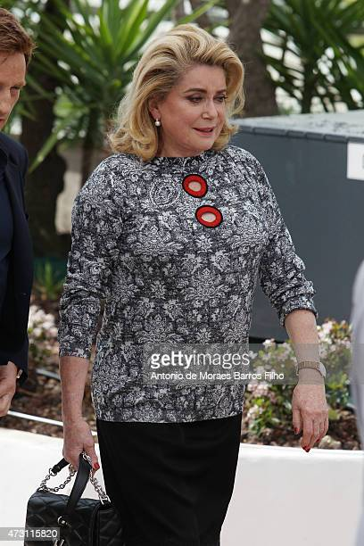 Catherine Deneuve attends the La Tete Haute photocall during the 68th annual Cannes Film Festival on May 13 2015 in Cannes France