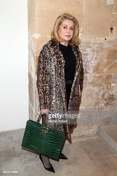 Catherine Deneuve attends the Launch Elie Top 'Haute Joaillerie Fantaisie' Collection on January 27 2015 in Paris France