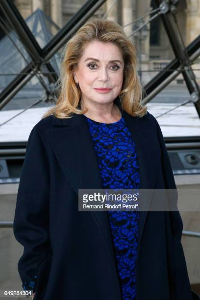 Catherine Deneuve attends the Louis Vuitton show as part of the Paris Fashion Week Womenswear Fall/Winter 2017/2018 on March 7 2017 in Paris France