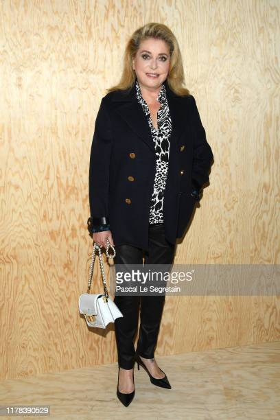 Catherine Deneuve attends the Louis Vuitton Womenswear Spring/Summer 2020 show as part of Paris Fashion Week on October 01 2019 in Paris France