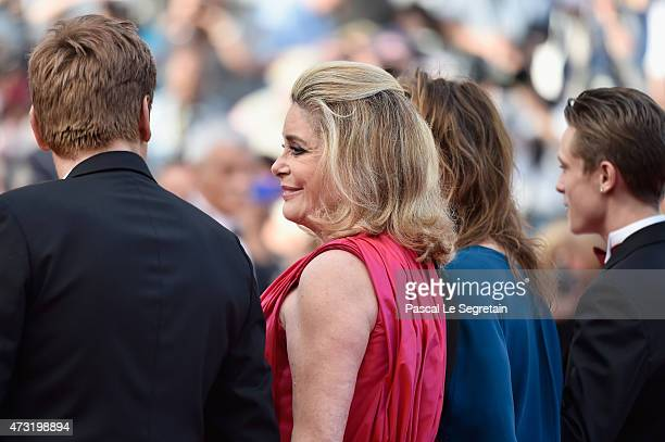 Catherine Deneuve attends the opening ceremony and premiere of La Tete Haute during the 68th annual Cannes Film Festival on May 13 2015 in Cannes...