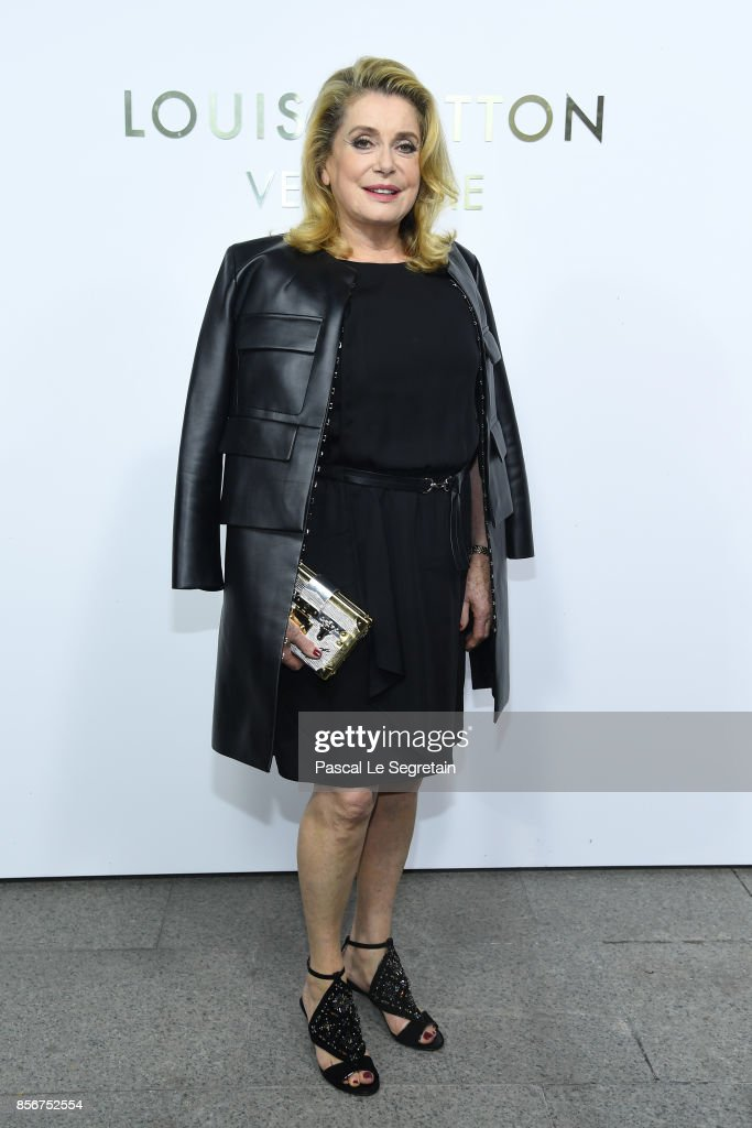 Catherine Deneuve attends the Opening Of The Louis Vuitton Boutique as part of the Paris Fashion Week Womenswear Spring/Summer 2018 on October 2, 2017 in Paris, France.