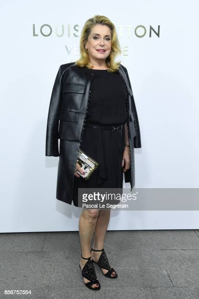 Catherine Deneuve attends the Opening Of The Louis Vuitton Boutique as part of the Paris Fashion Week Womenswear Spring/Summer 2018 on October 2 2017...