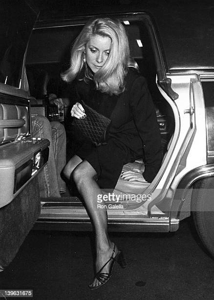Catherine Deneuve attends the party for Francois Truffaut on October 12 1980 at the Rock Lounge in New York City