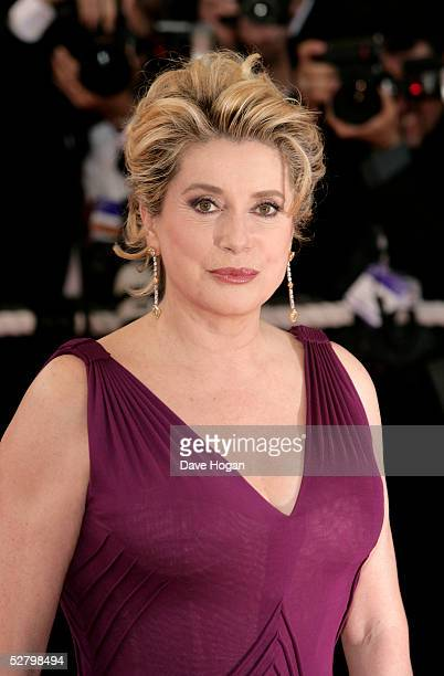 Catherine Deneuve attends the premiere for the film 'Lemming' at Le Palais de Festival on the opening night of the 58th International Cannes Film...