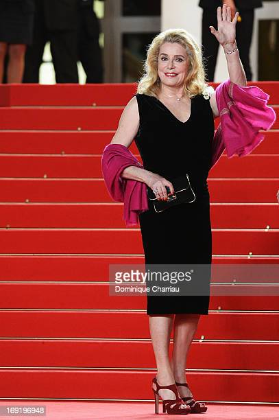 Catherine Deneuve attends the Premiere of 'Les Salauds' during The 66th Annual Cannes Film Festival at Palais des Festivals on May 21, 2013 in...