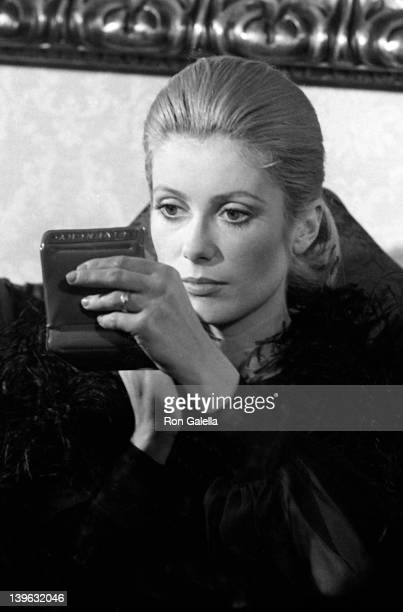 Catherine Deneuve attends the premiere party for 'Mayerling' on October 19 1968 in London England