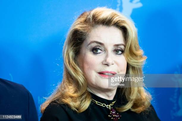 "Catherine Deneuve attends the ""Farewell To The Night"" Press Conference during the 69th Berlinale International Film Festival Berlin at..."