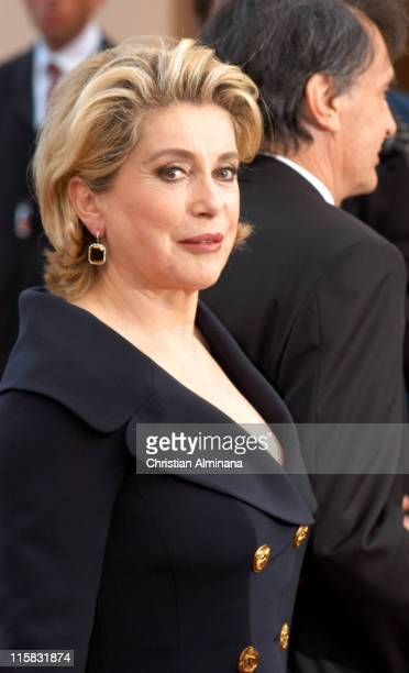 Catherine Deneuve during 2005 Cannes Film Festival 'Match Point' Premiere in Cannes France