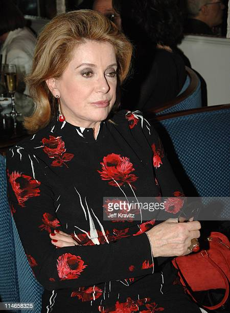 Catherine Deneuve during HBO's Annual PreGolden Globes Private Reception at Chateau Marmont in Los Angeles California United States