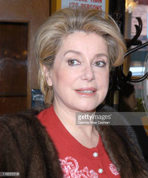 Catherine Deneuve during Rendezvous with French Cinema 2005 Press Luncheon in New York City at La Cote Basque in New York City New York United States