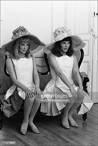 Catherine Deneuve Francoise Dorleac in shooting film ' Les Demoiselles de Rochefort' in Rochefort France on June 09 1966