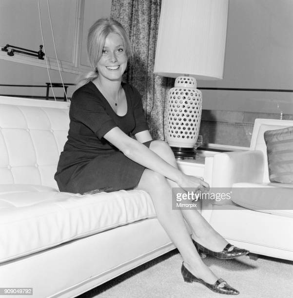 Catherine Deneuve French actress in the UK to start filming for her starring role in new Roman Polanski film Repulsion pictured at the Carlton Towers...