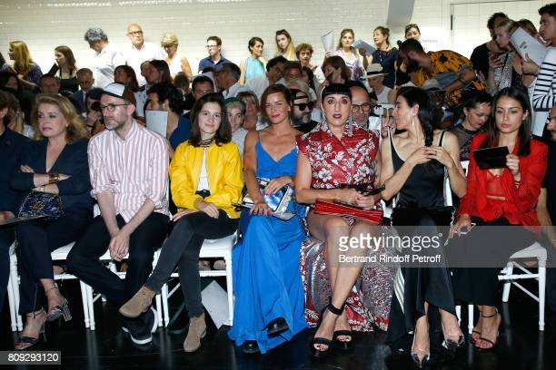 Catherine Deneuve Loic Prigent Aloise Sauvage Fauve Hautot Rossy de Palma Blanca Li and Hiba Abouk attend the Jean Paul Gaultier Haute Couture...