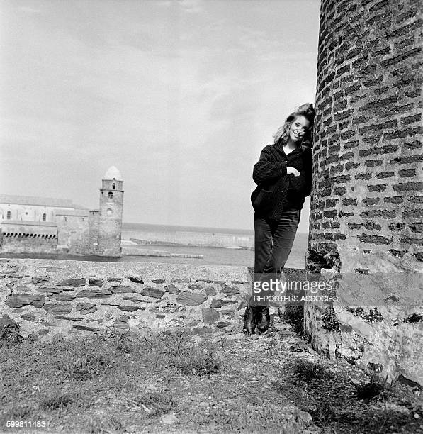 Catherine Deneuve on the Set of the Movie 'Et Satan Conduit le Bal' Directed by Roger Vadim in Collioure France in 1962