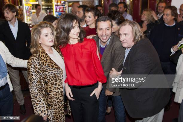 Catherine Deneuve Valerie Lemercier and Gerard Depardieu attend at 'Asterix et Obelix au service de sa majeste' film premiere at 'Le Grand Rex' on...