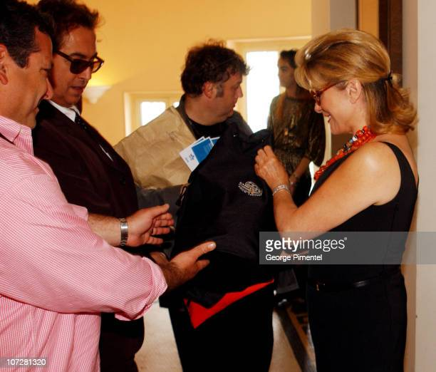 Catherine Deneuve visits the Chrysler Million Dollar Film Festival Martinez Suite