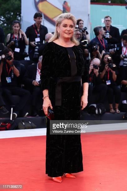 Catherine Deneuve walks the red carpet ahead of the Joker screening during the 76th Venice Film Festival at Sala Grande on August 31 2019 in Venice...
